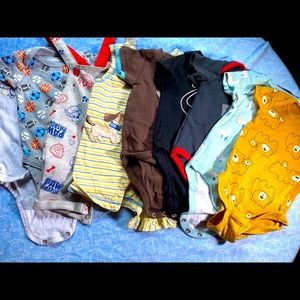 Baby clothes and Bonus clothes with purchase